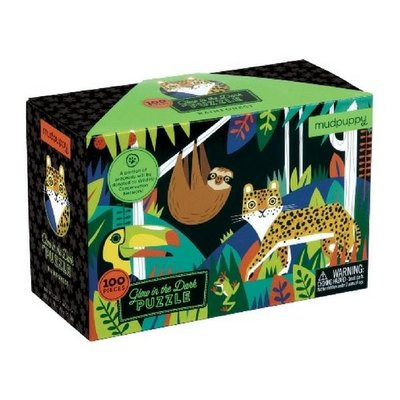 Puzzel - Glow in the Dark Regenwoud (100st.)