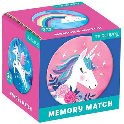 Mini Memory Spel - Unicorn Magic - Mudpuppy