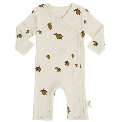 Newborn playsuit Lemon