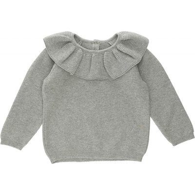 Fiol Collar wool knit Light Grey