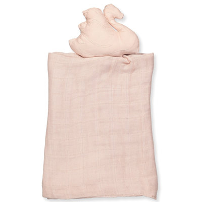 Swan cuddle cloth (pink)