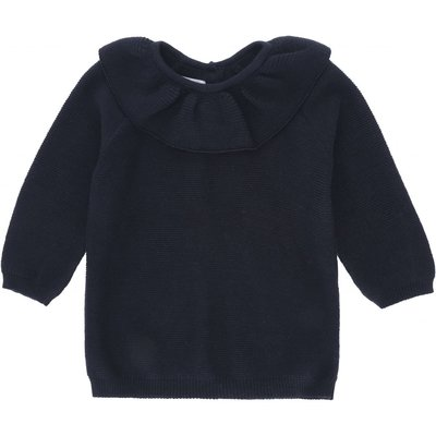 Fiol Collar wool knit Navy