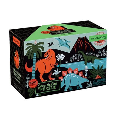 Puzzel - Glow in the Dark Dinosaurs (100st.)